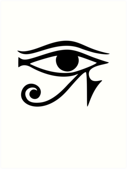 Eye Of Horus Ra Ancient Egyptian Symbol Of Protection Art