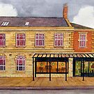 426 - FRAMEWORKS CAFE & SHOP, BLYTH - DAVE EDWARDS - WATERCOLOUR - 2018 by BLYTHART