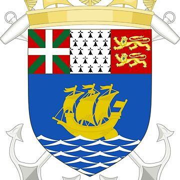 Coat of Arms, Saint Pierre and Miquelon by PZAndrews