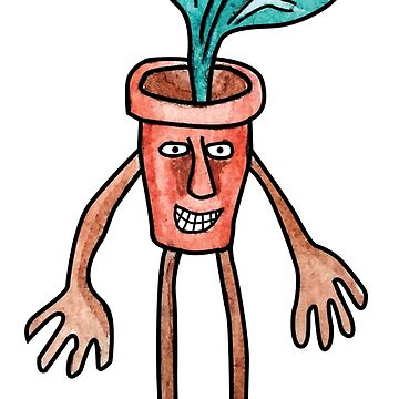 Flower Pot Man by Grimessart