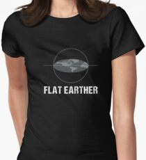 Cool Flat Earth Society Conspiracy Theory Flat Earther Shirt Women's Fitted T-Shirt
