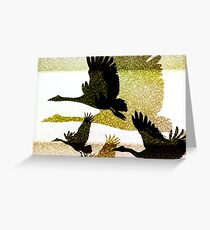 Magpie Geese in Flight Greeting Card