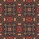 «Marrón oscuro rojo beige Salmón Naranja Hip Orient Bali Art» de LC Graphic Design Studio