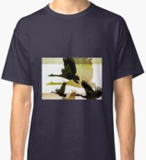 Magpie Geese in Flight Classic T-Shirt