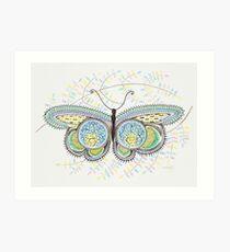 ornamental butterfly Art Print