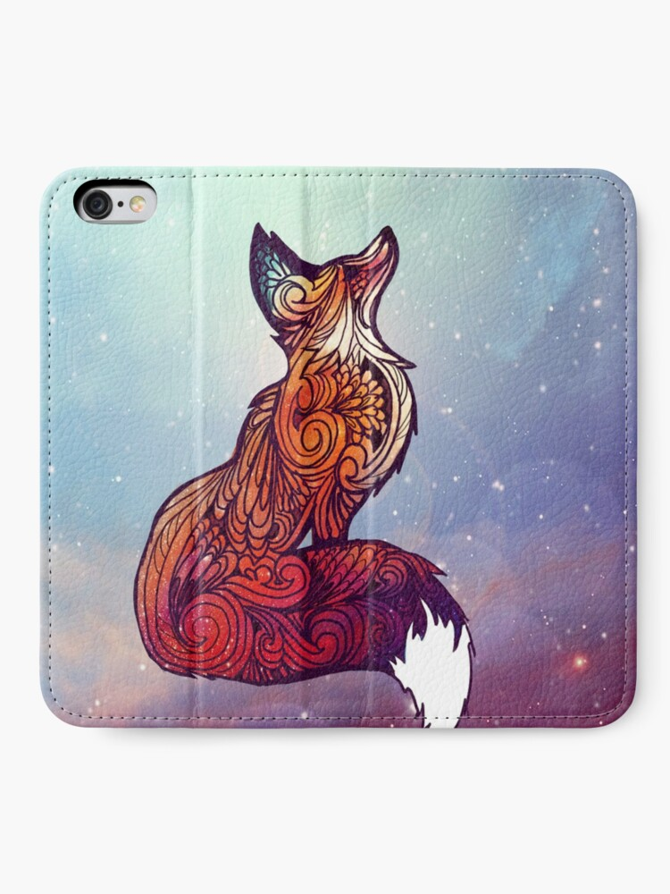 Alternate view of Space Fox iPhone Wallet