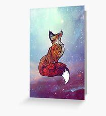 Space Fox Greeting Card