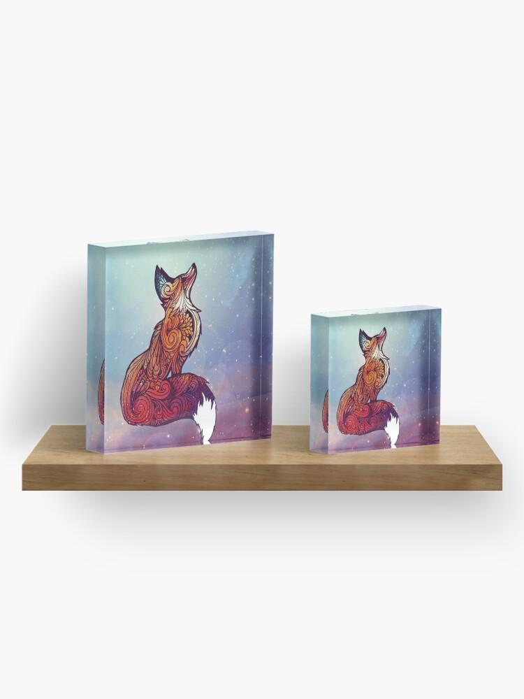 Alternate view of Space Fox Acrylic Block