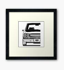 GT-R KPGC10 (black & white) Framed Print