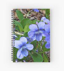 Early Blue Violets II Spiralblock