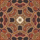 «Crema Taupe Marrón Rojo Naranja Hip Orient Bali Art» de LC Graphic Design Studio