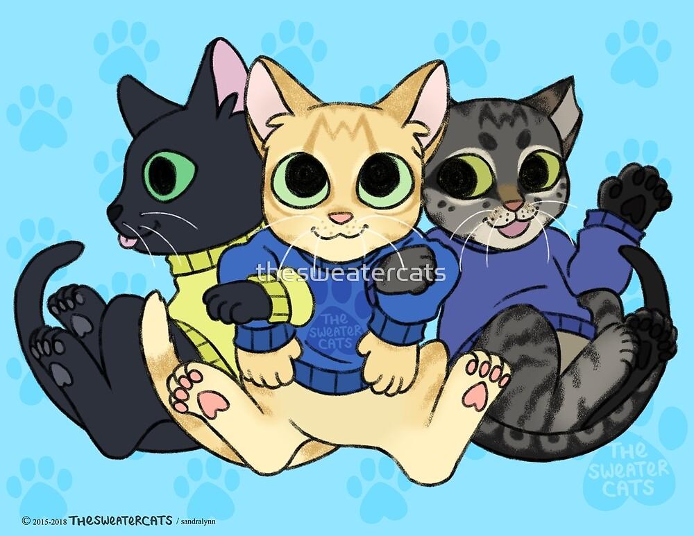 thesweatercats - three kitty cats by thesweatercats
