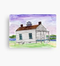 Jones Point Lighthouse Alexandria, VA Watercolor Canvas Print
