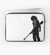 Winter Soldat Silhouette Laptoptasche