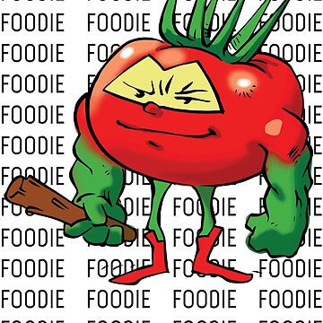 "Tomato ""The Barbarian"" Foodie Foodietoon Veggie Superheroes by ProjectX23"