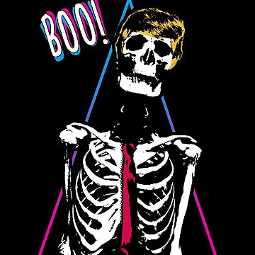 BOO Scary Skeleton Halloween by wearbaer