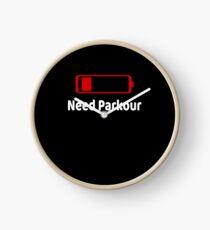 Low Battery Need Parkour TShirt Activities Hobbies Gift Clock