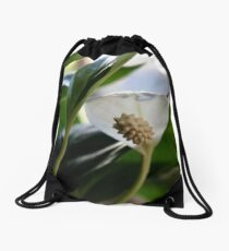 Peace Lily Drawstring Bag