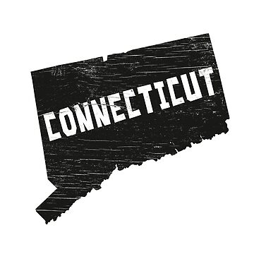 Connecticut Home Vintage Distressed Map Silhouette by YLGraphics