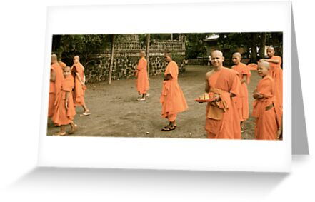 In amongst the monks by Kristi Bryant