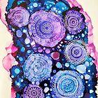 Rasberry Blue Mandala by Melanie Froud