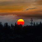 Smokey sunset sky over Mt Scott in Oregon summertime by davidgnsx1
