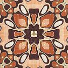 «Beige marrón topo Salmón Naranja Hip Oriente Bali Art» de LC Graphic Design Studio