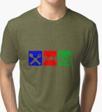 EAT SLEEP COMPUTER HACK Tri-blend T-Shirt