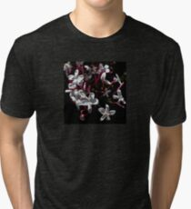 Jasmine Blooms On Black Tri-blend T-Shirt