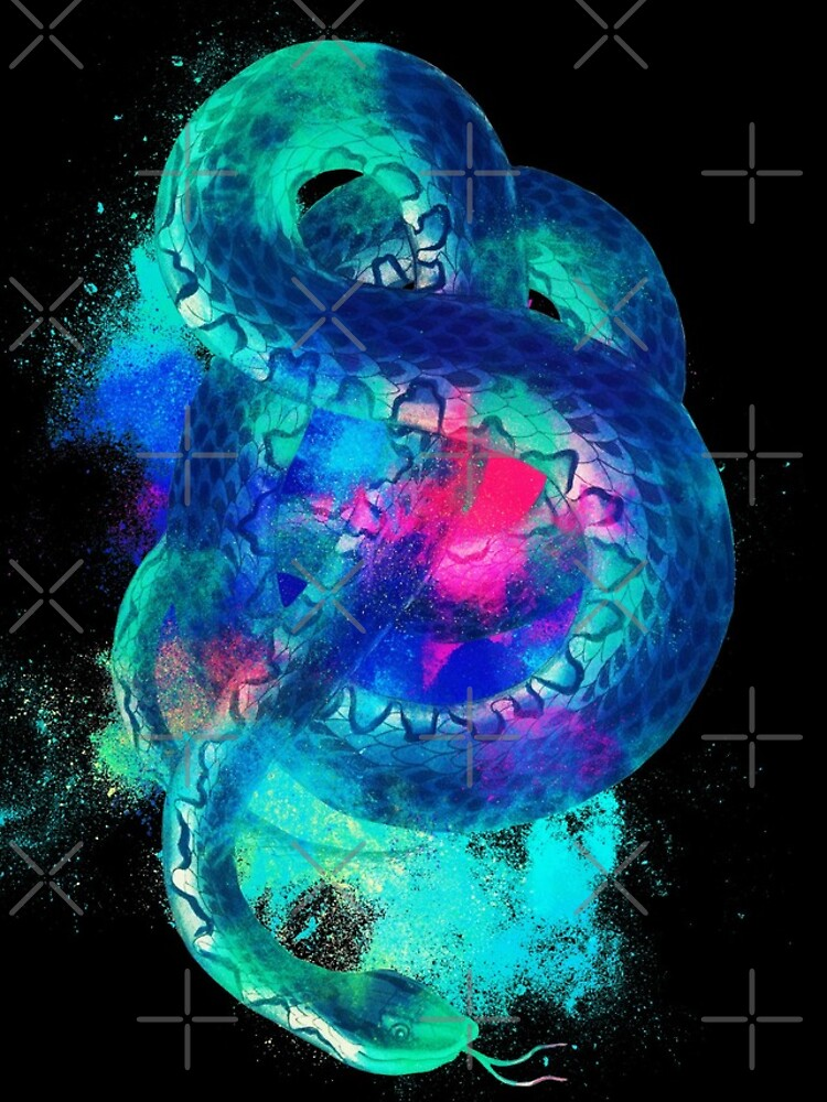 Snake background colorful von VincentW91