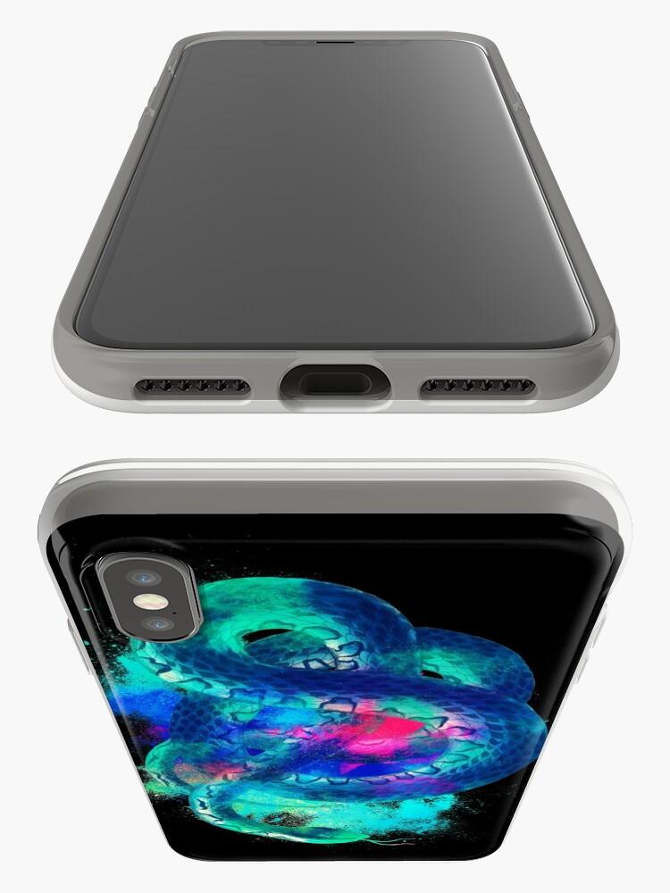 Alternative Ansicht von Snake background colorful iPhone-Hüllen & Cover