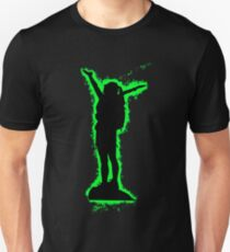 Silhouette climbing green and black silhouette Unisex T-Shirt