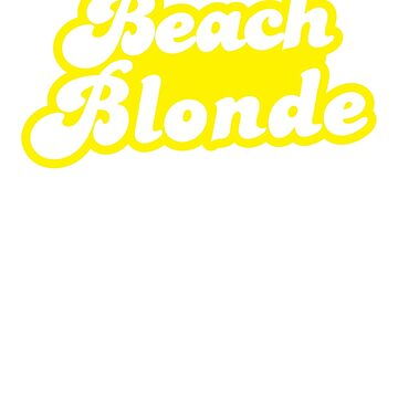 Beach blonde in yellow by jazzydevil