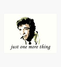 columbo thing Art Print