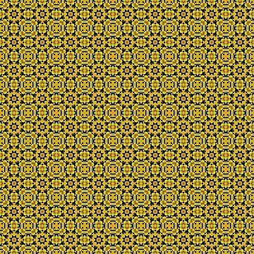 Yellow black ornament 9 by fuzzyfox