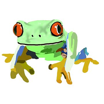 green frog rotoscope by chateauteabag