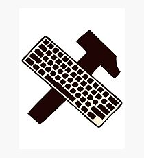 hammer and keyboard Photographic Print