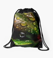 Water droplets Drawstring Bag