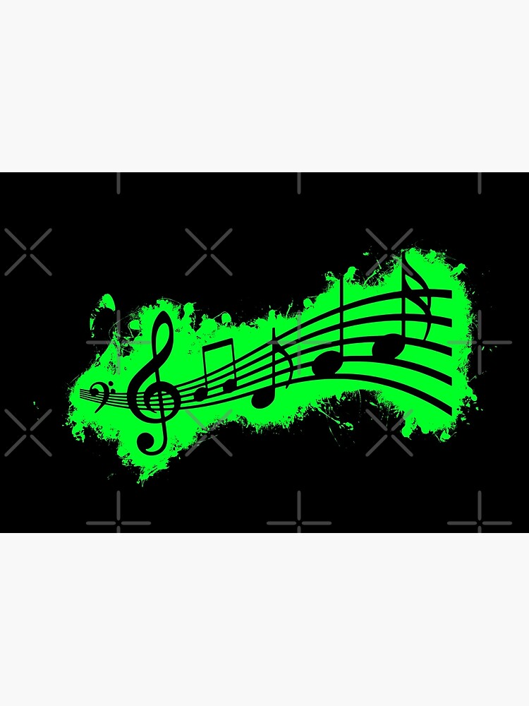 Silhouette musical green and black silhouette de VincentW91