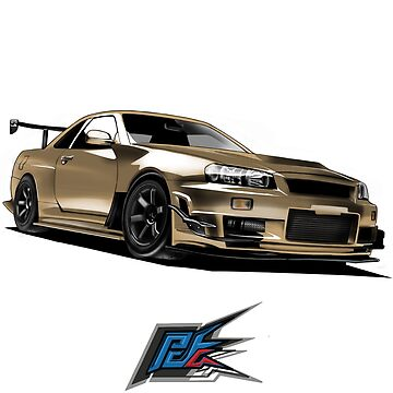 nissan gtr r34 front gold color by naquash