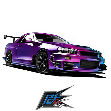nissan gtr r34 front multi color by naquash