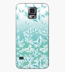 blue butterflies in the sky Case/Skin for Samsung Galaxy