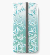 blue butterflies in the sky iPhone Wallet/Case/Skin