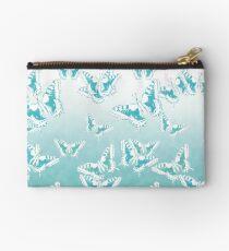 blue butterflies in the sky Studio Pouch