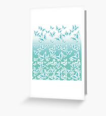 blue butterflies in the sky Greeting Card