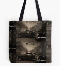 1953 Caddy Eldorado, 1963 Chevy Impala caught in time. Tote Bag