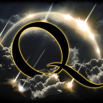 QAnon Q Storm. Hand Drawn Original Art.  by TrumpQAnon