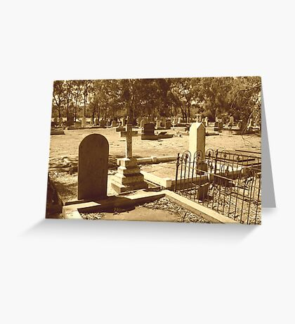 Sepia Cemetery Greeting Card
