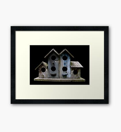 Sluggish Bird's Housing Market Framed Print