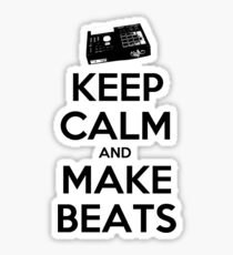 Keep Calm, Make Beats Sticker